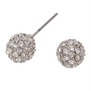 Picture of Silver Crystal Pave Studs